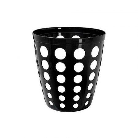 Műanyag irodai szemetes fekete 12 literes