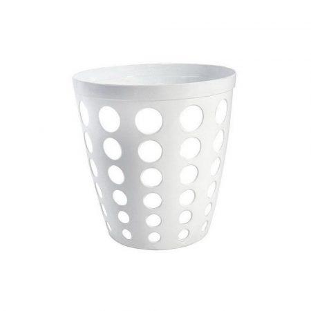 Műanyag irodai szemetes fehér 12 literes