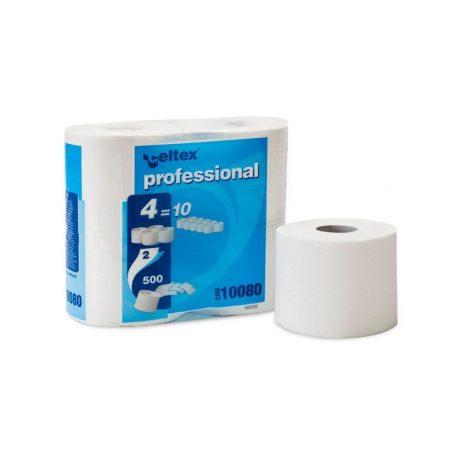 Celtex Professional compact toalettpapír 2 réteg, 500 lap, 55m, 4 tekercses, 15 csomag/zsák