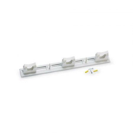 Aricasa eszköz tartó 50cm - 3 tartó + 2 kampó, fehér