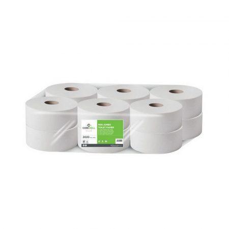 COREWELL toalettpapír 19cm 2 réteg cellulóz 130m 12 tekercs/zsugor, 52 zsugor/raklap
