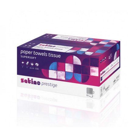Satino Wepa Prestige V hajtogatott kéztörlő 2 rétegű, cellulóz 25x23cm, 3000 lap/karton