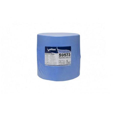 Celtex Superblue 1000 ipari törlő cellulóz, kék, 3 rétegű, 360m, 1000 lap, 38x36cm, 1 tekercs/zsugor