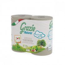 Lucart GRAZIE NATURAL háztartási toalettpapír 2réteg, 4 tekercs/csomag 14csomag/zsák