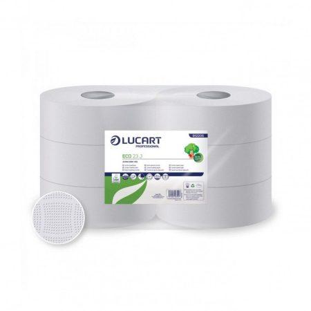 Lucart Eco 23 J toalettpapír, 2 rétegű, fehér, 165 m, 6 tekercs/zsugor 70 zsugor/raklap