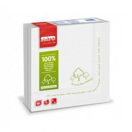"""Szalvéta, """"Save the trees""""  2rétegű, 38x38cm, 50 lap/csomag, 48 csomag/kart"""