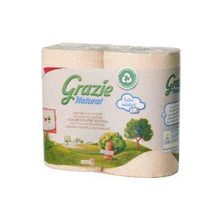 Lucart GRAZIE NATURAL Tekercses kéztörlő 2 rétegű, 2 tekercs/csomag, 12 csomag/zsák, 20 zsák/raklap