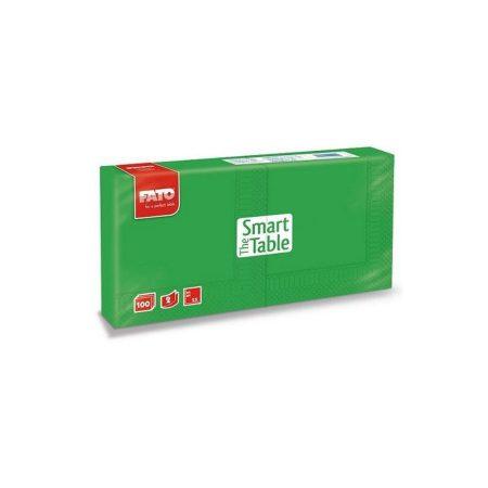 Szalvéta, 25x25cm, smaragdzöld, 2 rétegű, 100 lap/csomag, 38 csomag/karton