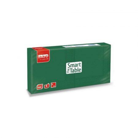 Szalvéta, 25x25cm, erdőzöld, 2 rétegű, 100 lap/csomag, 38 csomag/karton