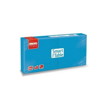 Szalvéta, 25x25cm, türkiz 2 rétegű, 100 lap/csomag, 38 csomag/karton