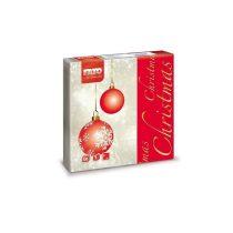 Karácsonyi Szalvéta, 33x33cm, MAGIC CHRISTMAS, 2rtg, 20lap/cs, 30cs/kart