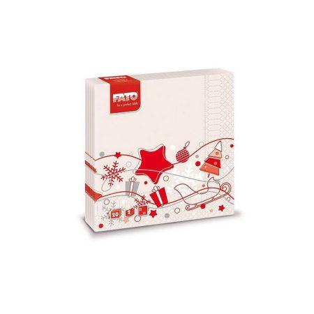 Karácsonyi Szalvéta, 33x33cm, WINTER TIME, 2rtg, 20lap/cs, 30cs/kart