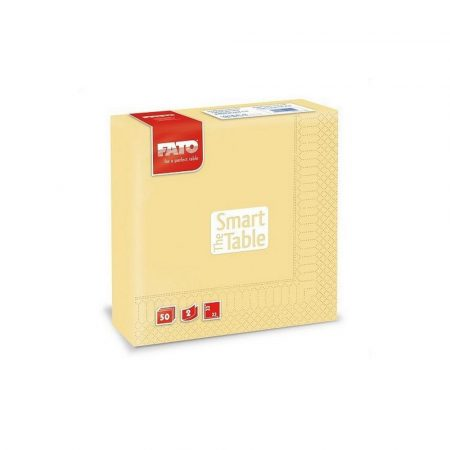 Szalvéta, 33x33cm, pezsgő, 2 rétegű, 50 lap/csomag, 24 csomag/karton