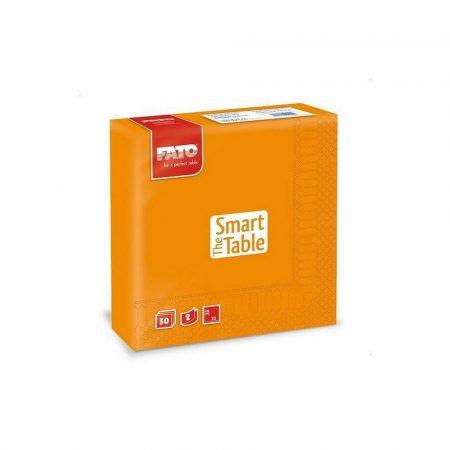 Szalvéta, 33x33cm, narancssárga, 2 rétegű, 50 lap/csomag, 24 csomag/karton