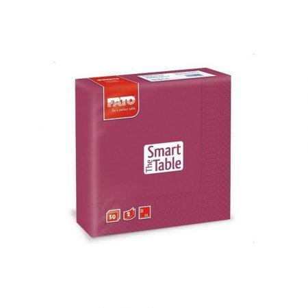 Szalvéta, 33x33cm, bordó, 2 rétegű, 50 lap/csomag, 24 csomag/karton