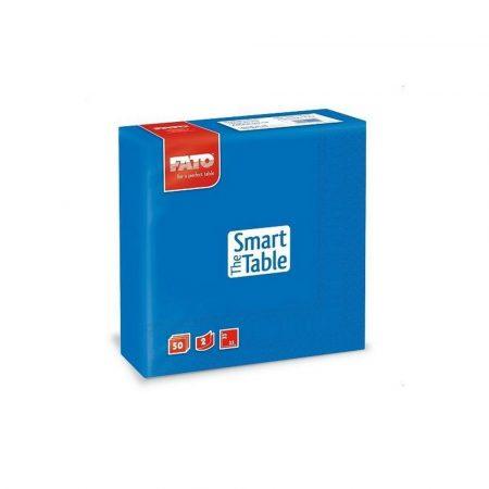 Szalvéta, 33x33cm, kék, 2 rétegű, 50 lap/csomag, 24 csomag/karton