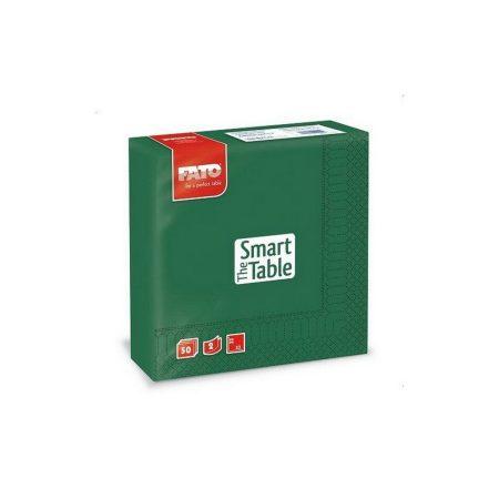 Szalvéta, 33x33cm, erdőzöld, 2 rétegű, 50 lap/csomag, 24 csomag/karton