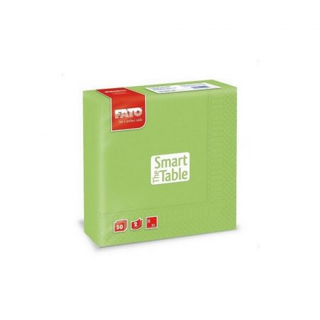 Szalvéta, 33x33cm, almazöld, 2 rétegű, 50 lap/csomag, 24 csomag/karton