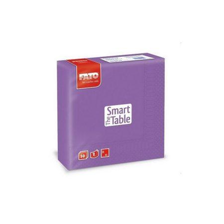Szalvéta, 33x33cm, viola, 2 rétegű, 50 lap/csomag, 24 csomag/karton