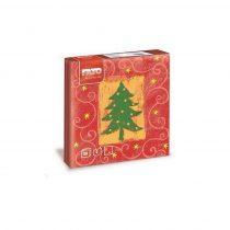 Karácsonyi Szalvéta, 33x33cm, Merry CHRISTMAS, 2rtg, 20lap/cs, 30cs/kart