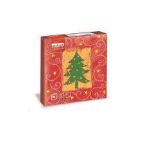 Karácsonyi Szalvéta, 33x33cm, Merry Christmas 2 rétegű, 20 lap/csomag