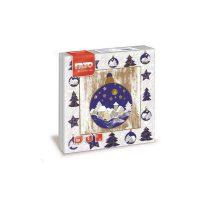 Karácsonyi Szalvéta, 33x33cm, JINGLE BELL, 2rtg, 20lap/cs, 30cs/kart