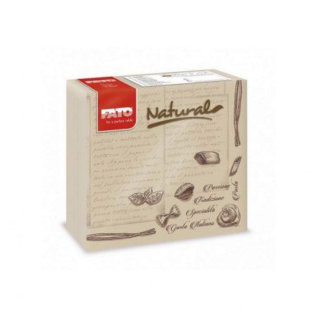 Sztár szalvéta, 2 rétegű, 38x38cm, NATURAL pasta, 40 szál/csomag, 24 csomag/karton