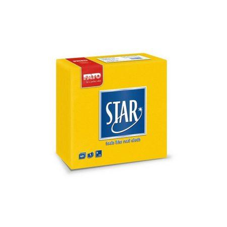 Sztár szalvéta, 2 rétegű, 38x38cm, sárga, 40 szál/csomag, 30 csomag/karton
