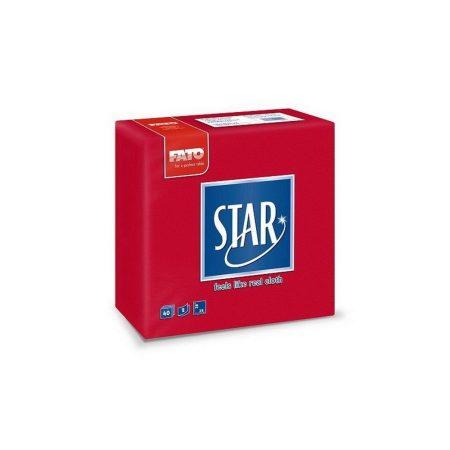 Sztár szalvéta, 2 rétegű, 38x38cm, piros, 40 szál/csomag, 30 csomag/karton