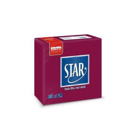 Sztár szalvéta, 2 rétegű, 38x38cm, bordó, 40 szál/csomag, 30 csomag/karton