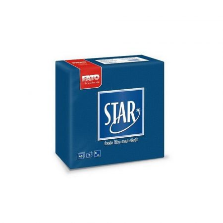 Sztár szalvéta, 2 rétegű, 38x38cm, sötétkék, 40 szál/csomag, 30 csomag/karton