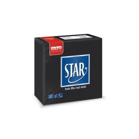 Sztár szalvéta, 2 rétegű, 38x38cm, fekete, 40 szál/csomag, 30 csomag/karton