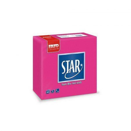 Sztár szalvéta, 2 rétegű, 38x38cm, fuxia, 40 szál/csomag, 30 csomag/karton