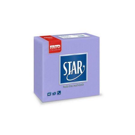 Sztár szalvéta, 2 rétegű, 38x38cm, lila, 40 szál/csomag, 30 csomag/karton