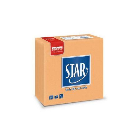 Sztár szalvéta, 2 rétegű, 38x38cm, barack, 40 szál/csomag, 30 csomag/karton