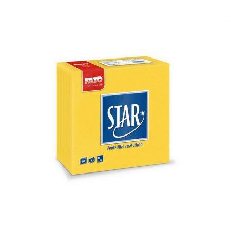 Sztár szalvéta, 2 rétegű, 38x38cm, citromsárga, 40 szál/csomag, 30 csomag/karton