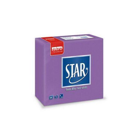 Sztár szalvéta, 2 rétegű, 38x38cm, viola, 40 szál/csomag, 30 csomag/karton