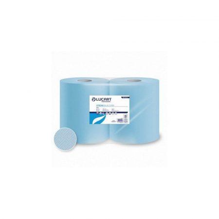 Lucart Strong Blue 3.500 ipari törlőkendő, 3 rétegű, 500 lap, 2 tekercs/zsugor, 56 zsugor/raklap