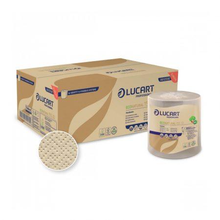 Lucart ECO Natural tekercses törlő 2 rétegű 155m 6 tekercs/karton, 40 karton/raklap