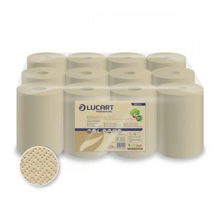 Lucart ECO Natural tekercses kéztörlő 2 rétegű, 255lap, 59m 12 tekercs/zsugor
