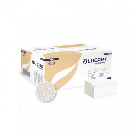 Lucart Easy Beige V 250 1 rétegű recy natúr 20x250lap / karton, 32 karton/raklap
