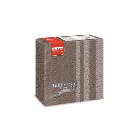 Airlaid szalvéta 40x40cm Tweed Chocolate 50 lapos