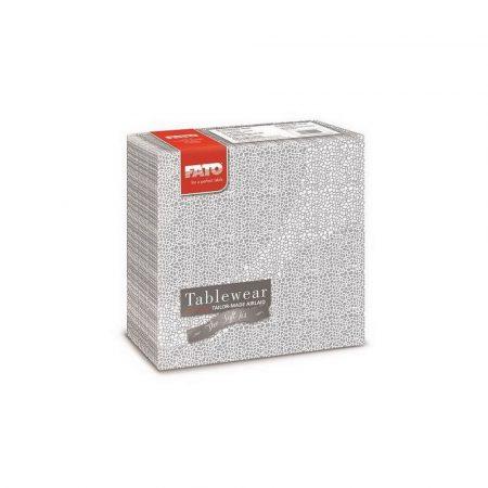 Airlaid szalvéta 40x40cm Mosaic silver 50 lapos