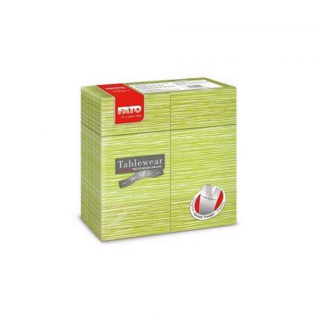 Airlaid szalvéta Quick Pocket 40x40cm Millerighe pisztácia 40lap/csg 12csg/kart