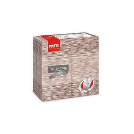 Airlaid szalvéta Quick Pocket 40x40cm Millerighe cappuccino 40lap/csg 12csg/karton