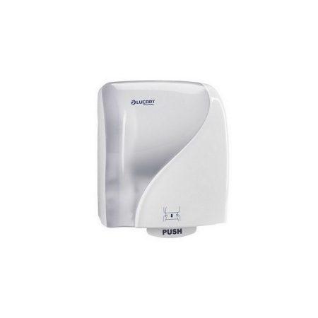 Lucart Identity autocut tekercses kéztörlő adagoló, ABS műanyag, fehér