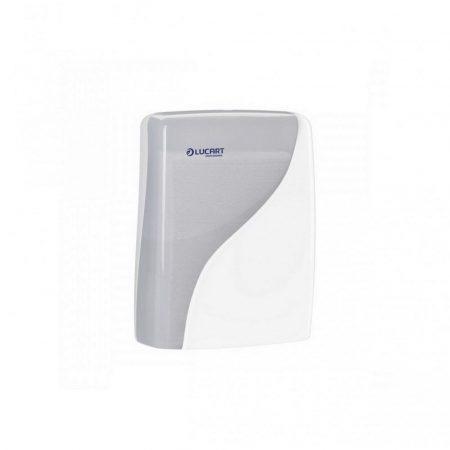 Lucart Identity V hajtogatott kéztörlő adagoló fehér ABS műanyag