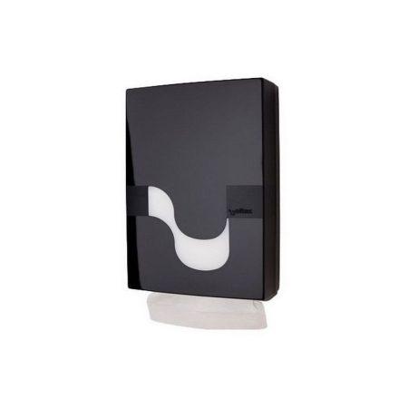 Celtex Megamini SLIM Z hajtogatott ABS fekete kéztörlő adagoló