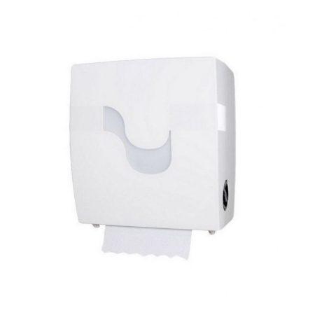 Celtex Megamini Formatic Autocut tekercses kéztörlő adagoló, vágókéses adagoló ABS fehér