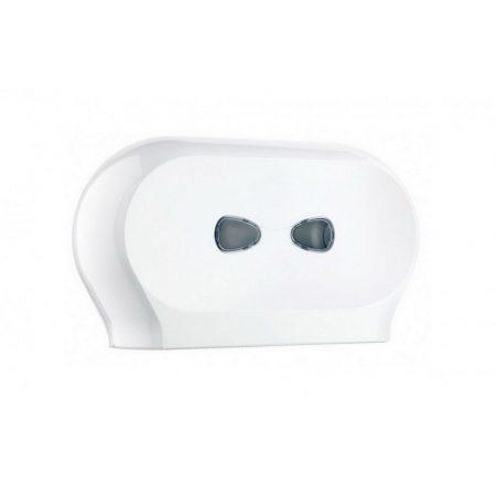 Mar plast Linea PLUS dupla toalettpapír adagoló fehér 19cm